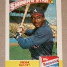"""1989 TOPPS BASEBALL """"Bazooka: Shining Star"""" - Ron Gant (#9)"""