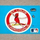 1985 FLEER BASEBALL - St. Louis Cardinals Team Logo Blue Sticker Card