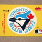 1986 FLEER BASEBALL - Toronto Blue Jays Team Logo Yellow Sticker Card