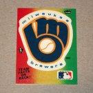 1984 FLEER BASEBALL - Milwaukee Brewers Team Logo Sticker Card