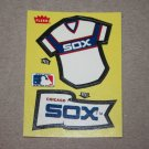 1985 FLEER BASEBALL - Chicago White Sox Team Jersey & Flag Yellow Sticker Card