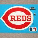1985 FLEER BASEBALL - Cincinnati Reds Team Logo Blue Sticker Card