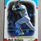 "1989 FLEER BASEBALL ""Heroes of Baseball"" - Mark McGwire (#28)"