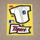 1985 FLEER BASEBALL - Detroit Tigers Team Jersey & Flag Yellow Sticker Card
