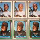 Lot of (6) 1990 Sandy Alomar Jr. Baseball Cards - Bowman / Topps