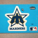 1985 FLEER BASEBALL - Seattle Mariners Team Logo Blue Sticker Card