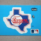 1985 FLEER BASEBALL - Texas Rangers Team Logo Blue Sticker Card