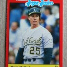 """1989 FLEER BASEBALL """"League Leaders"""" - Mark McGwire (#27)"""