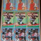 Lot of (9) 1991 DONRUSS BASEBALL - Sandy Alomar Jr. Baseball Cards