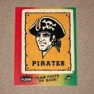1984 FLEER BASEBALL - Pittsburgh Pirates Team Logo Sticker Card