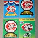 Lot of (4) FLEER BASEBALL - Cincinnati Reds Team Logo Sticker Cards