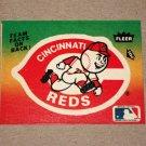 1984 FLEER BASEBALL - Cincinnati Reds Team Logo Sticker Card