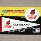 1986 FLEER BASEBALL - Cleveland Indians Team Logo & Pennant Sticker Card