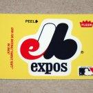 1986 FLEER BASEBALL - Montreal Expos Team Logo Yellow Sticker Card