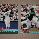 "Lot of (2) 1991 TOPPS STADIUM CLUB BASEBALL ""Charter Member"" Rickey Henderson"