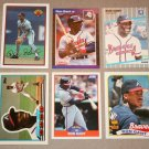 Lot of (6) 1989 Ron Gant Baseball Cards - Donruss / Fleer / Score / Topps
