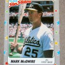 "1988 FLEER BASEBALL ""Star Stickers"" - Mark McGwire (#56)"