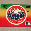 1984 FLEER BASEBALL - Houston Astros Team Logo Sticker Card