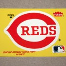 1986 FLEER BASEBALL - Cincinnati Reds Team Logo Yellow Sticker Card