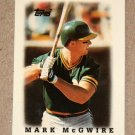 "1988 TOPPS BASEBALL ""Major League Leaders"" - Mark McGwire (#31) Glossy"