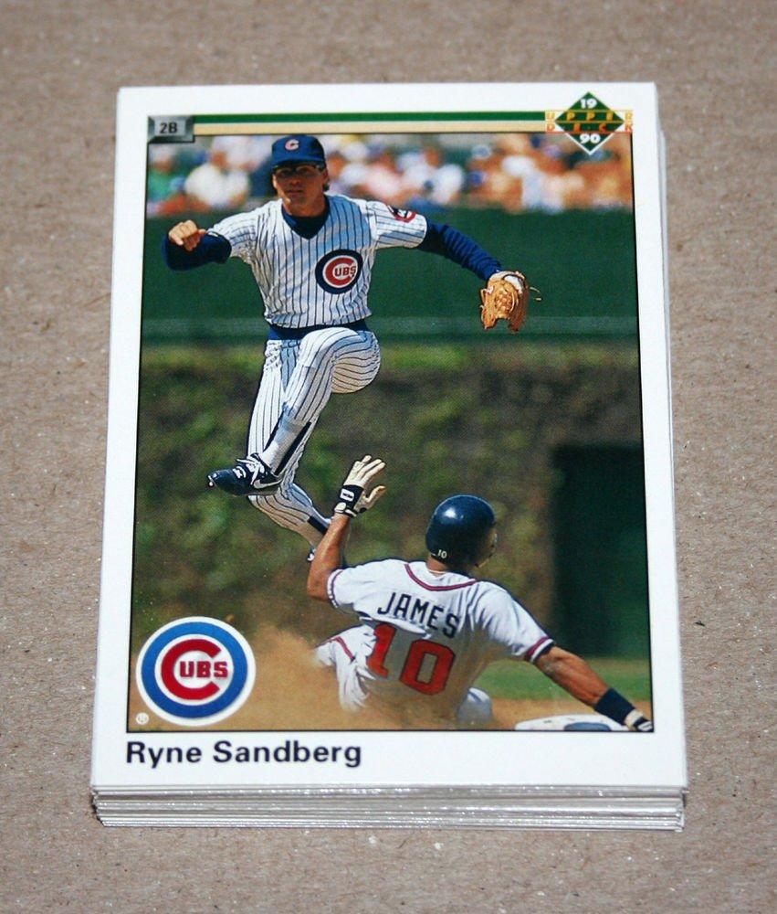 1990 UPPER DECK BASEBALL - Chicago Cubs Team Set + High Number Series