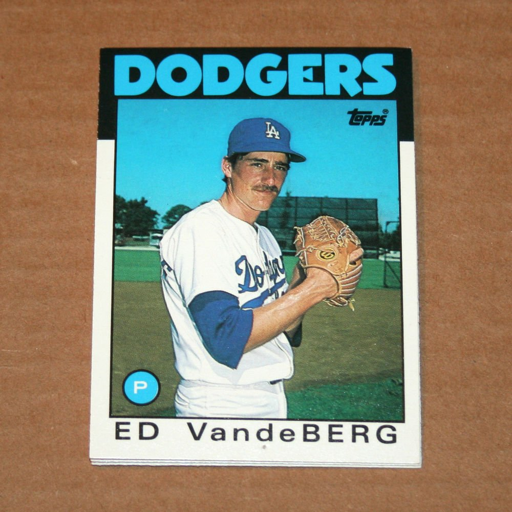 1986 TOPPS BASEBALL - Los Angeles Dodgers Team Set (Traded Series Only)
