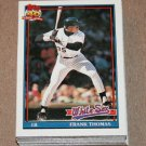 1991 TOPPS BASEBALL - Chicago White Sox Team Set