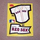 1985 FLEER BASEBALL - Boston Red Sox Team Jersey & Flag Yellow Sticker Card