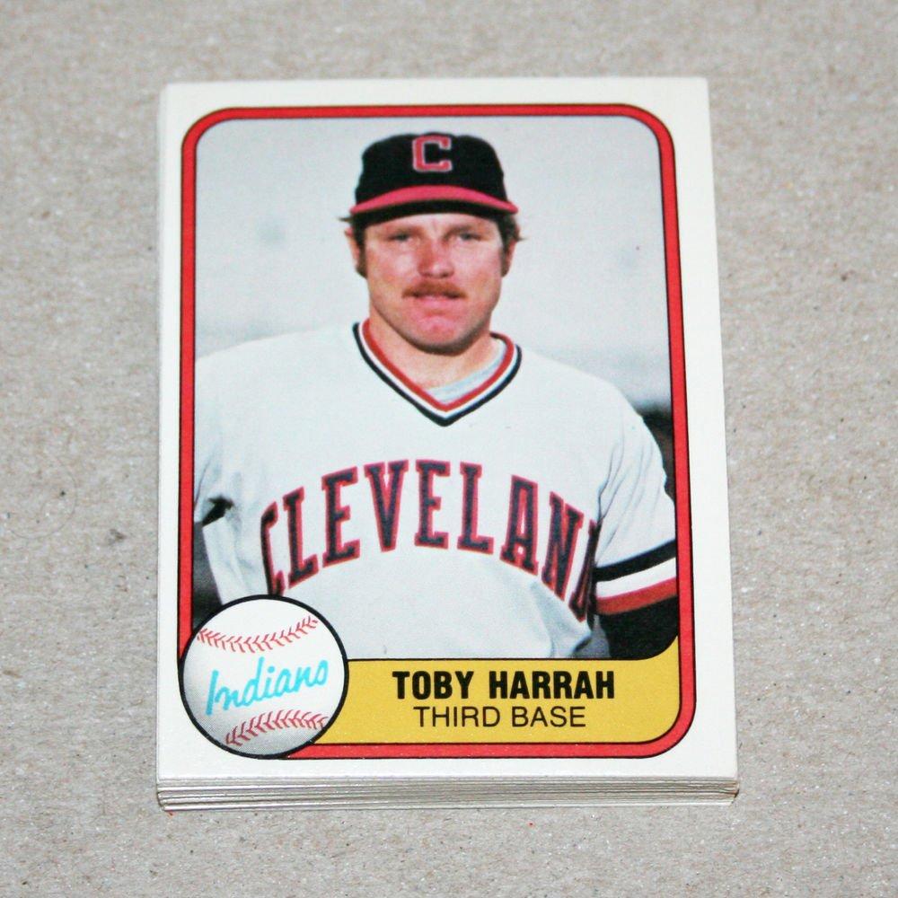 1981 FLEER BASEBALL - Cleveland Indians Team Set