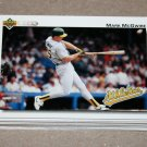 1992 UPPER DECK BASEBALL - Oakland Athletics Team Set + High Number Series