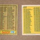 1987 TOPPS BASEBALL - Checklist Set + Traded Series