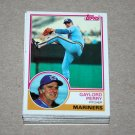 1983 TOPPS BASEBALL - Seattle Mariners Team Set + Traded Series