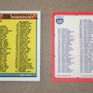 1991 TOPPS BASEBALL - Checklist Set + Traded Series