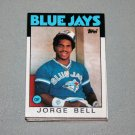 1986 TOPPS BASEBALL - Toronto Blue Jays Team Set = Traded Series