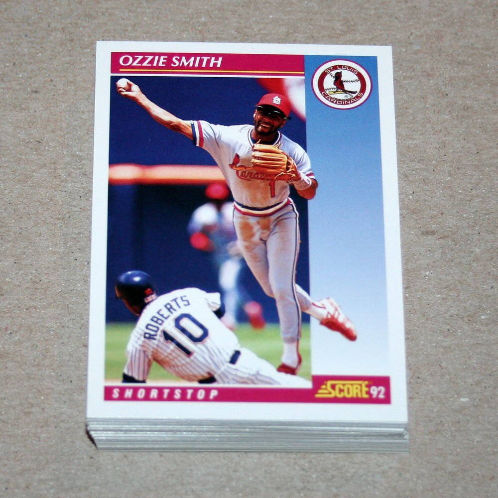 1992 SCORE BASEBALL - St. Louis Cardinals Team Set + Rookie & Traded Series