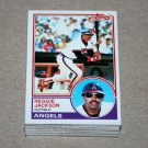 1983 TOPPS BASEBALL - California Angels Team Set + Traded Series
