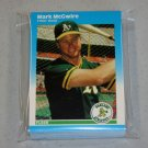 1987 FLEER BASEBALL - Oakland Athletics Team Set + Update Series