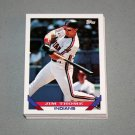 1993 TOPPS BASEBALL - Cleveland Indians Team Set (Series 1 & 2)