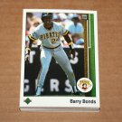 1989 UPPER DECK BASEBALL - Pittsburgh Pirates Team Set + High Number Series