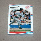 1988 FLEER BASEBALL - New York Yankees Team Set