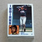 1984 TOPPS BASEBALL - Cleveland Indians Team Set + Traded Series