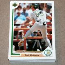 1991 UPPER DECK BASEBALL - Oakland Athletics True Team Set (Low/High/Final)