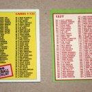 1985 TOPPS BASEBALL - Checklist Set + Traded Series