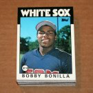 1986 TOPPS BASEBALL - Chicago White Sox Team Set + Traded Series