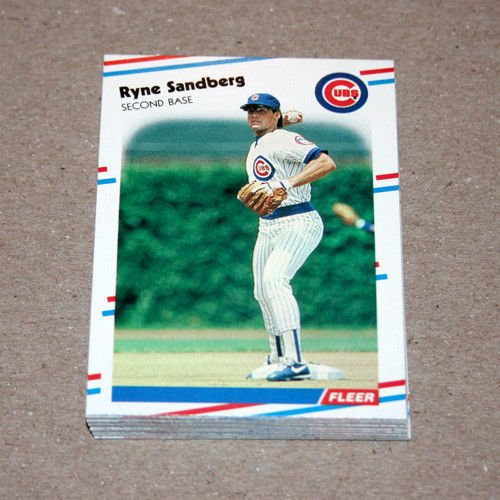 1988 FLEER BASEBALL - Chicago Cubs Team Set