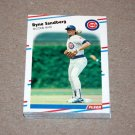 1988 FLEER BASEBALL - Chicago Cubs Team Set