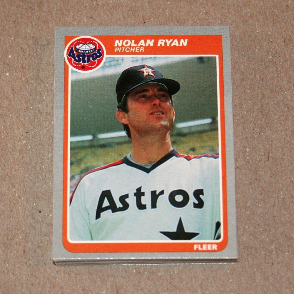 1985 FLEER BASEBALL - Houston Astros Team Set