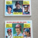 1984 TOPPS BASEBALL - Active Career Leaders Complete Sub-Set