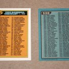 1990 BOWMAN BASEBALL - Checklist Set