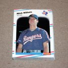 1988 FLEER BASEBALL - Texas Rangers Team Set
